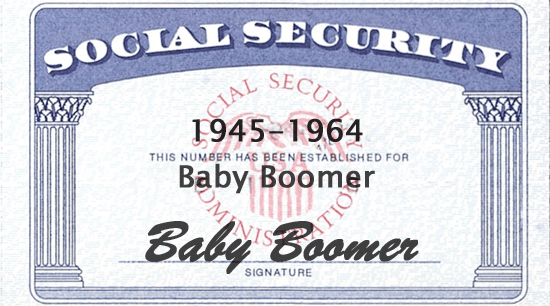 Baby Boomer Social Security Card 1945-1964